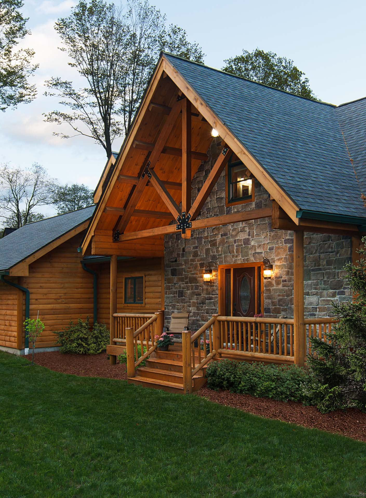On the rocks log home living magazine allen mowery for Log homes magazine