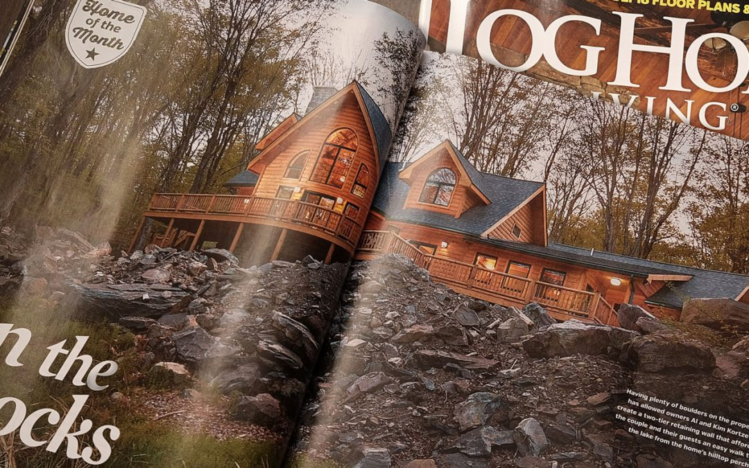 On the Rocks: Log Home Living Magazine