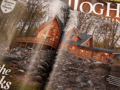 On the Rocks: Log Home Living Magazine